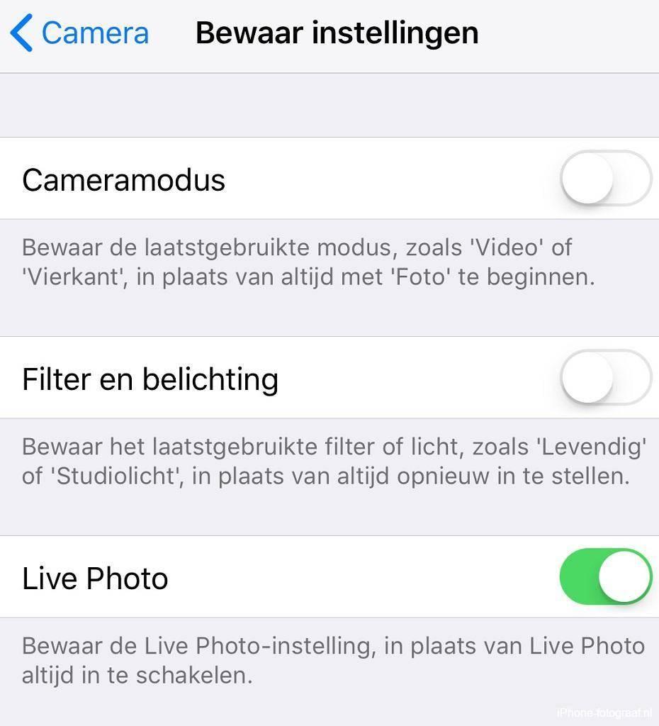 iPhone Camera-app