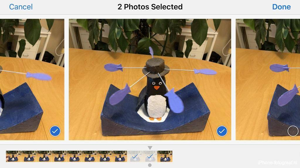 iPhone Camera-app burst mode