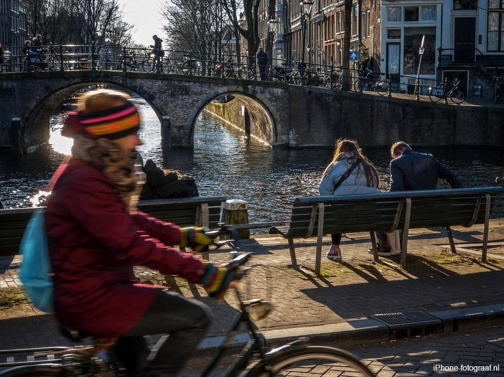 iPhone foto van Amsterdam