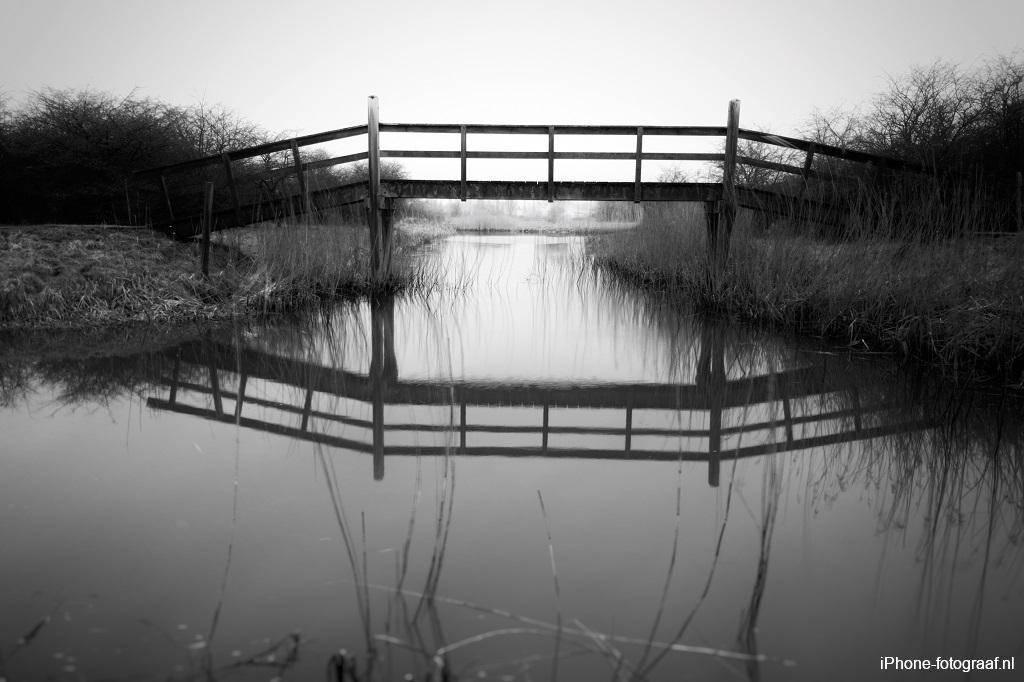 iPhone foto zwart-wit recreatiegebied Kardinge
