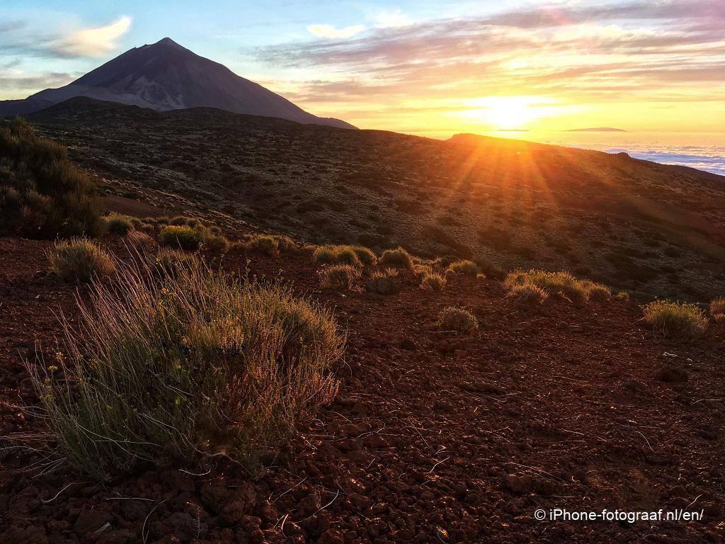 Sunset iPhone photo of Tenerife