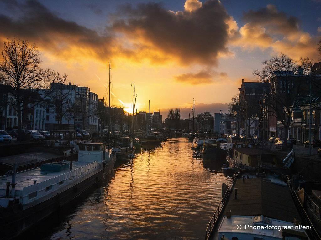 sunset iPhone photo of Groningen