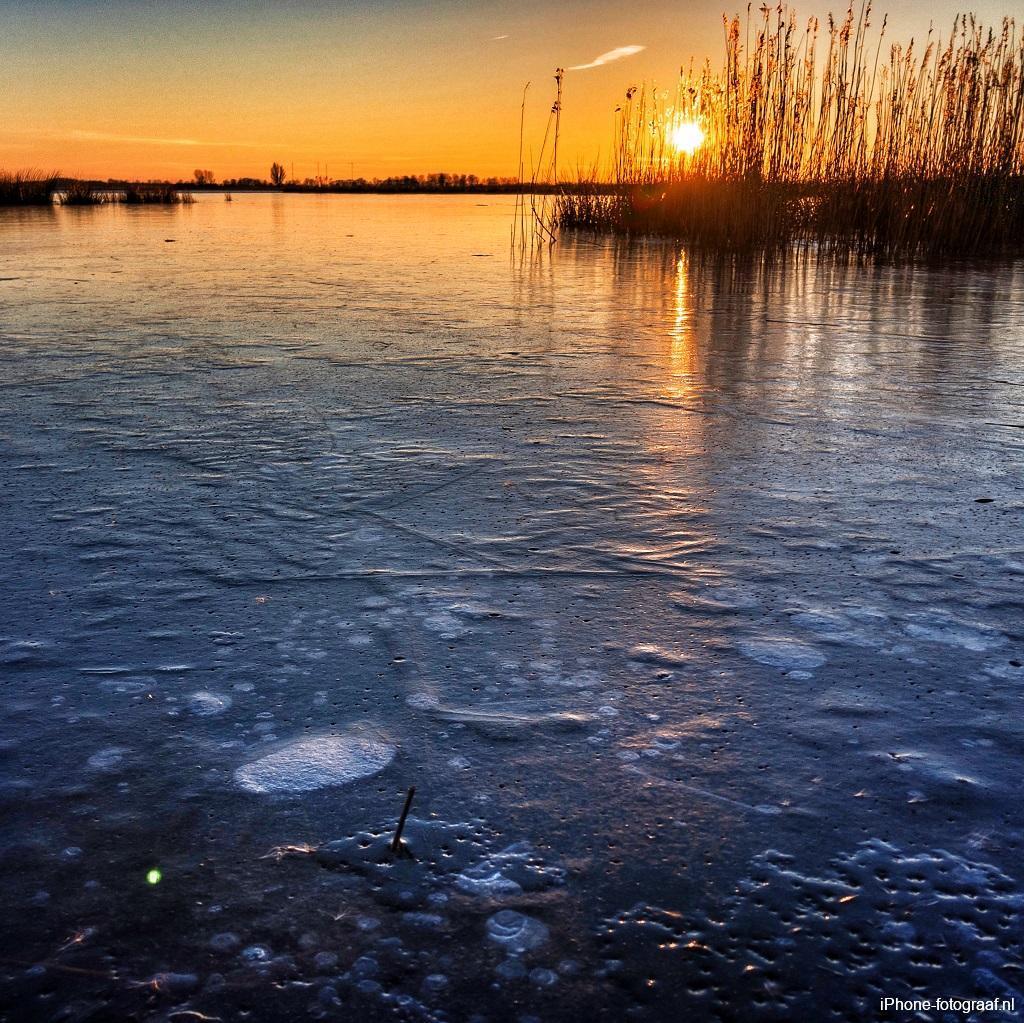 iPhone foto van een zonsondergang