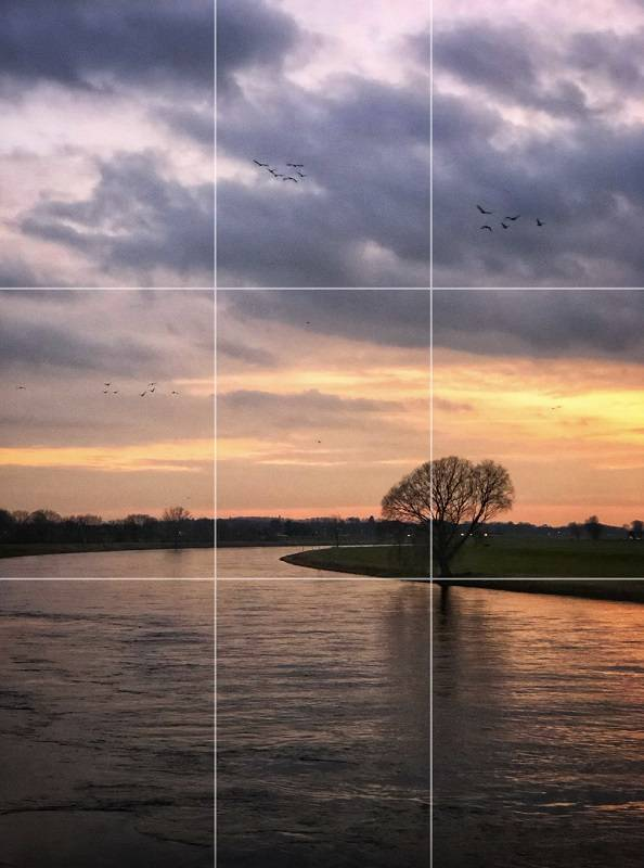 Apply the Rule of Thirds to landscapes created with your iPhone.