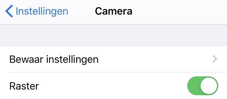 op je iPhone het raster inschakelen.