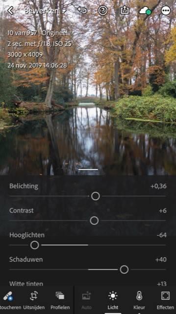 Lightroom CC Mobile voor je iPhone