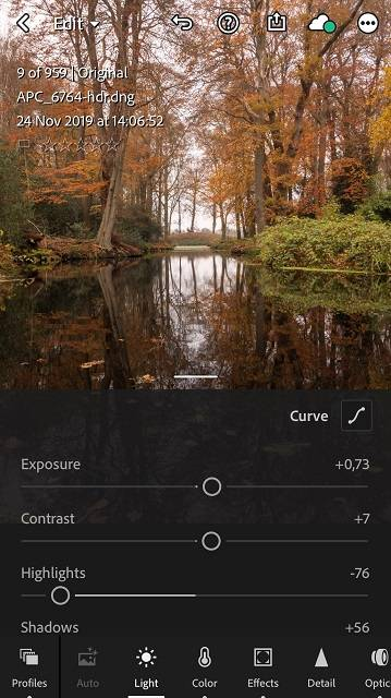 Lightroom CC Mobile for your iPhone